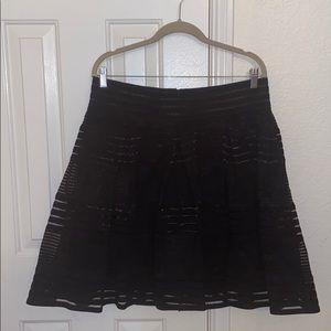 CLEARANCE: Black mini skirt w/ beautiful patterns